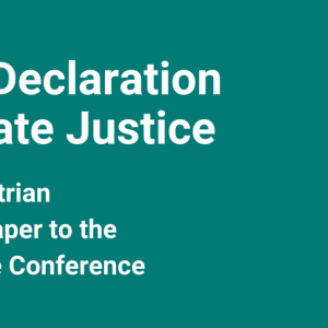 Youth Declaration – Climate Justice!