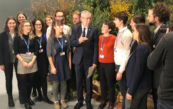 Treffen der Jugenddelegierten mit dem Bundespräsidenten auf der Klimakonferenz