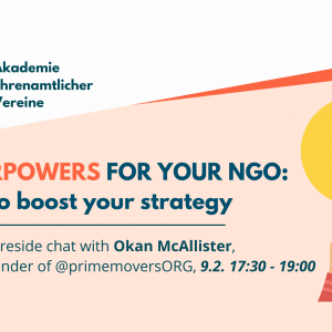 Akademie Ehrenamtlicher Vereine: Superpowers for your NGO